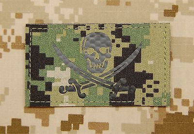 Infrared Multicam IR US Reverse Flag Patch