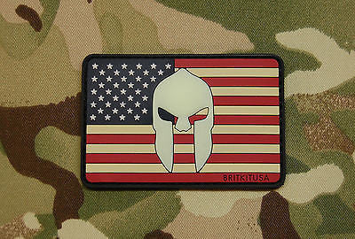 III Percent Glow-In-The-Dark Crusader Shield PVC Morale Patch