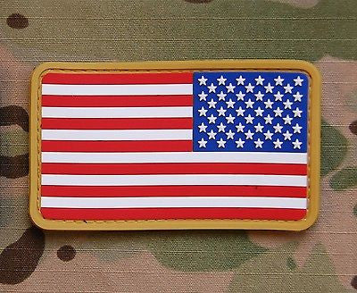 Reverse US Flag PVC Morale Patch