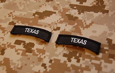 Texas State Tab Patch Set - Black & White