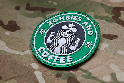 Starbucks Zombies and Coffee Velcro PVC Morale Patch