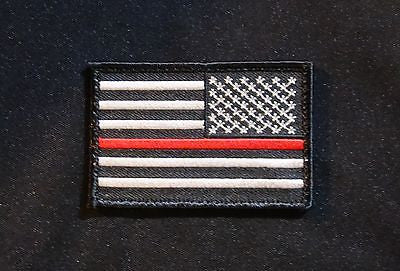 Thin Red Line Reverse United States Flag Patch - Velcro