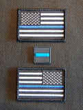 Thin Blue Line United States Flag & 3D PVC Ranger Eye Patch Set