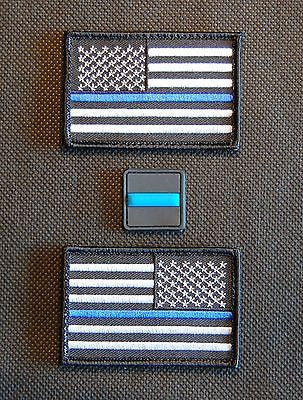 Thin Blue Line United States Flag Patch - Velcro