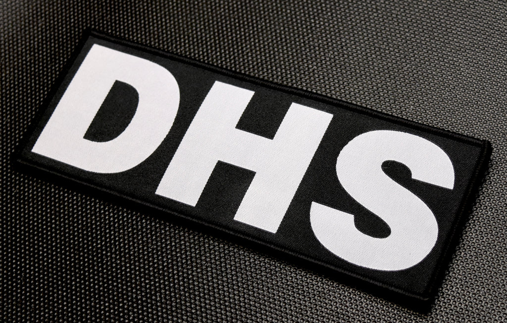 "8"" X 3"" Woven DHS Placard Patch"