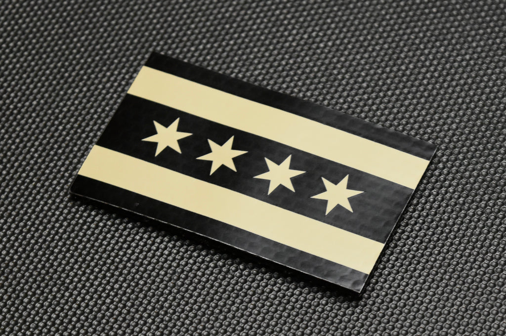 Infrared Chicago City Flag Patch