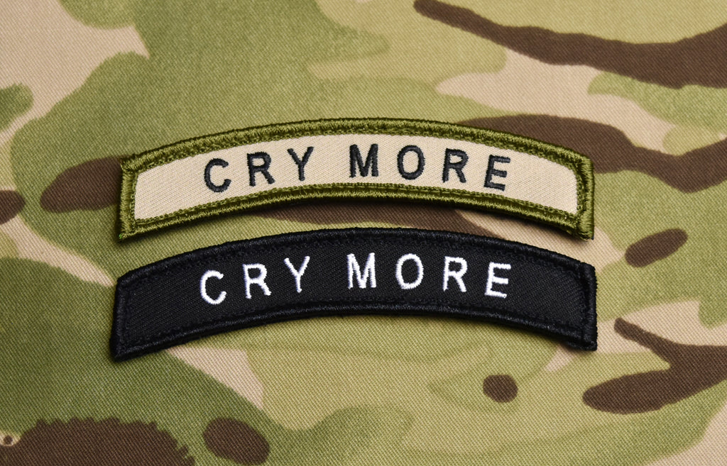 CRY MORE Tab Embroidered Morale Patch Set