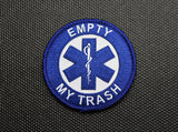 Empty My Trash Embroidered Patch