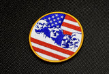 Mount Rushmore Flag Premium Embroidered Patch