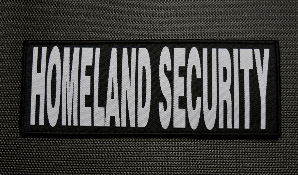 "8"" X 3"" Woven DHS / HOMELAND SECURITY Placard Patch SET"