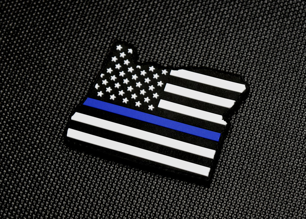 Oregon State Thin Blue Line 3D PVC Morale Patch