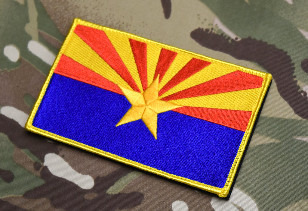 "Large 3""x5"" Arizona State Flag Morale Patch"