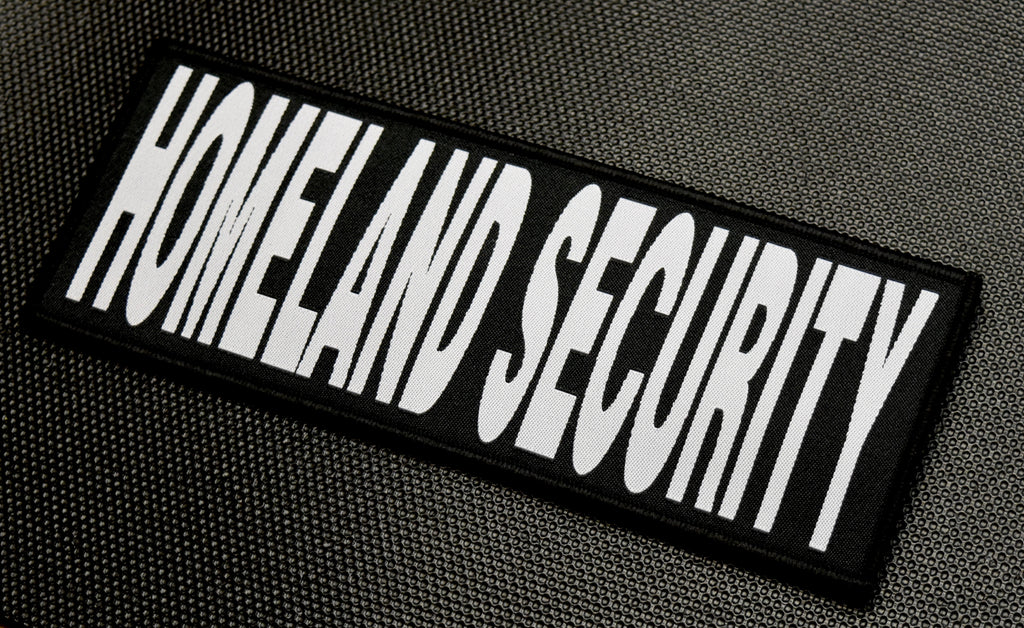 "8"" X 3"" Woven HOMELAND SECURITY Placard Patch"