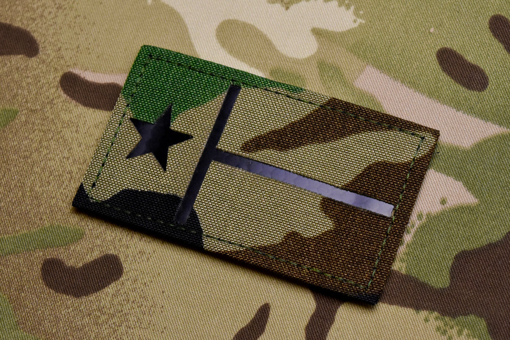 Infrared Texas State Flag Woodland Call Sign Patch