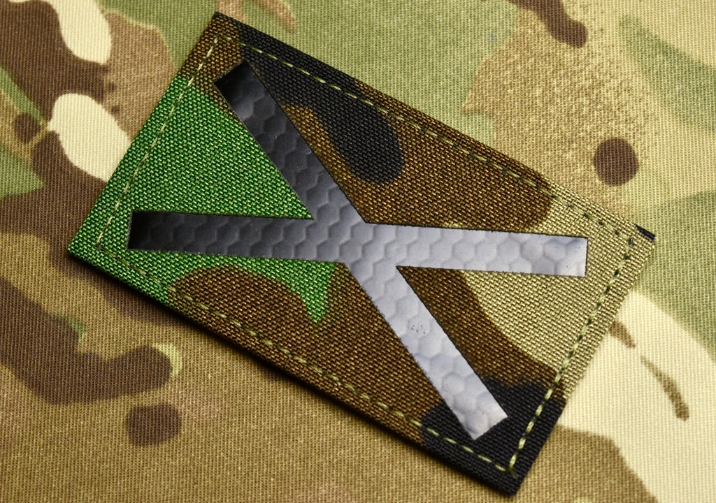 M81/Woodland Saltire V1 Infrared Call Sign Patch