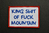 King Shit Of Fuck Mountain Morale Patch Set