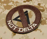 AOR1 NOT DELTA Morale Patch