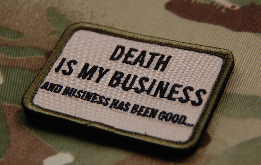 DEATH IS MY BUSINESS Multicam Embroidered Morale Patch