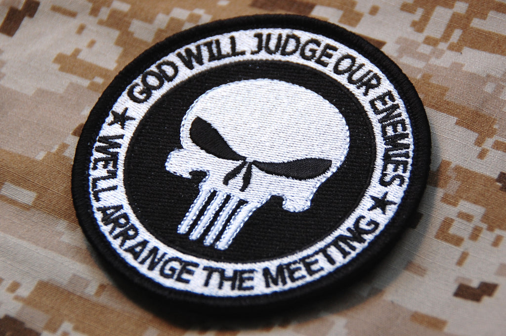 GOD WILL JUDGE OUR ENEMIES Morale Patch - B&W