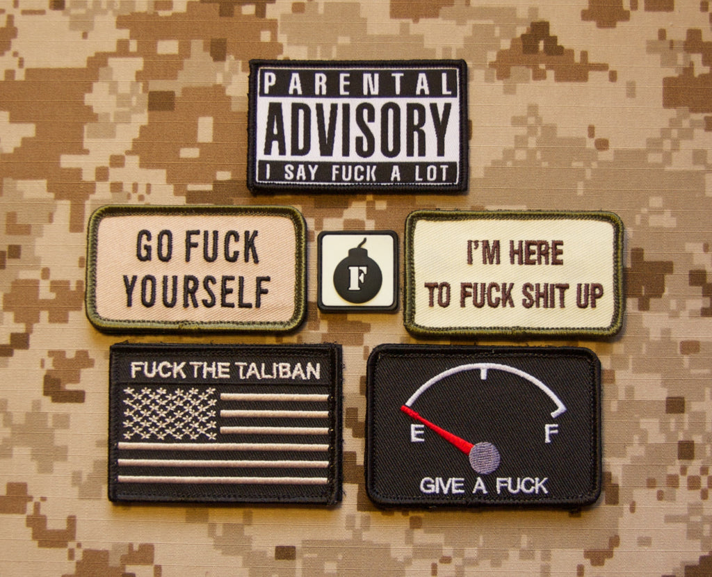 US F Bomb Morale Patch Package
