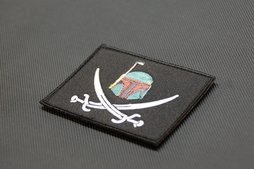 Boba Fett Calico Jack Embroidered Morale Patch