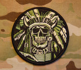 Indian Chief Skull Embroidered Morale Patch