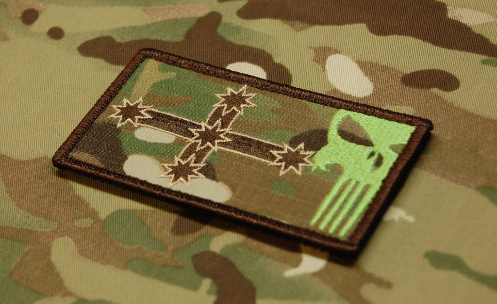 TTA Multicam Eureka Flag Punisher Skull Morale Patch