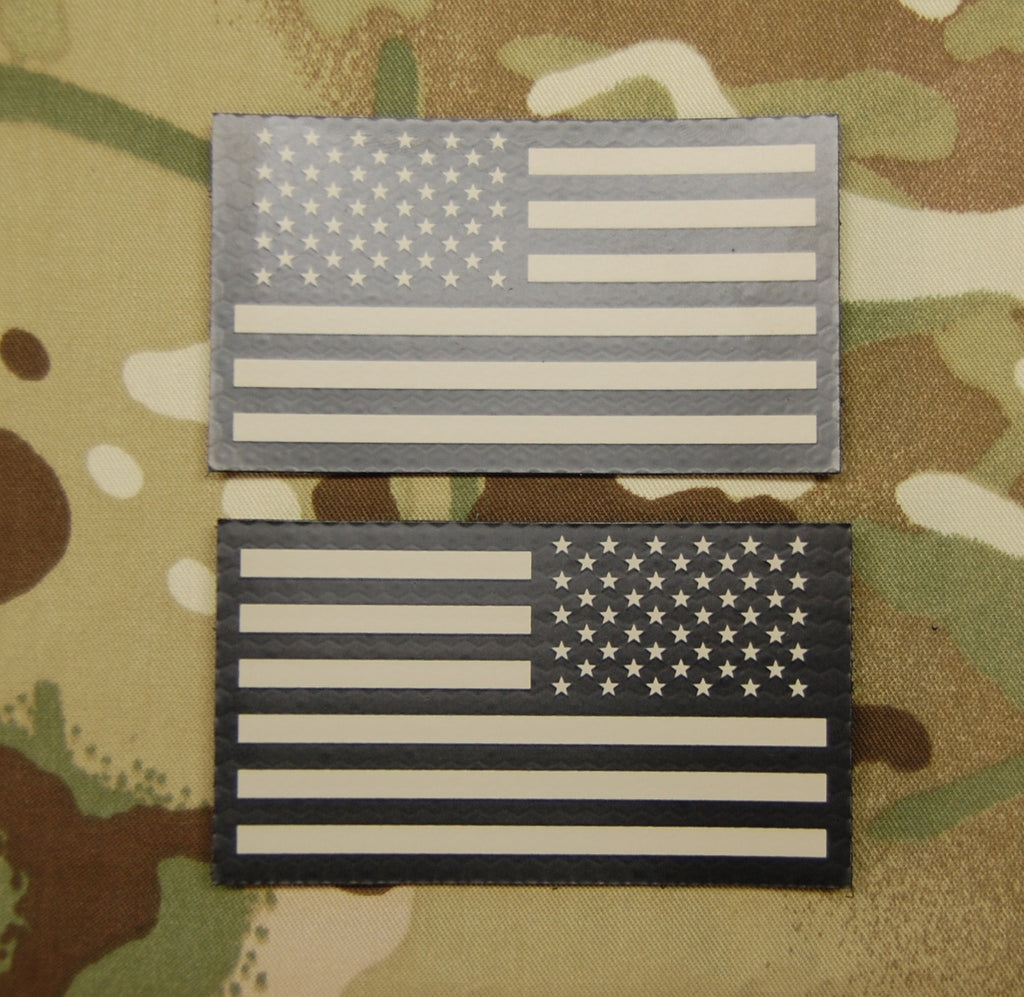 Infrared US Flag Standard /& Mini Full Patch Set IR Army Navy Air Force Tan