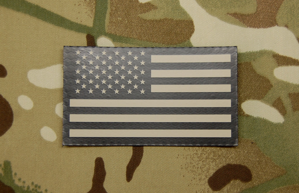 Infrared US Flag Patch - Tan & Black