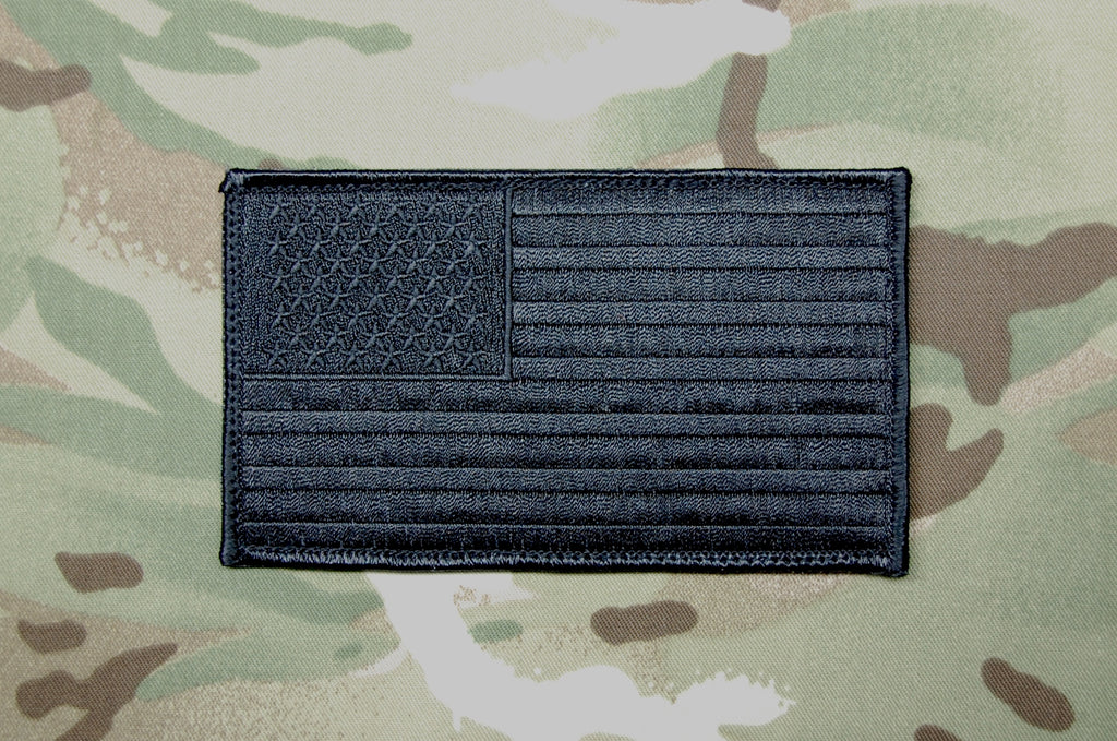 "Blackout Large 3"" x 5"" American Flag Patch"