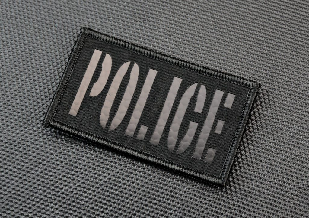 Infrared Blackout POLICE Patch