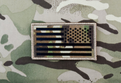 Infrared Multicam IR US Flag Patch Set