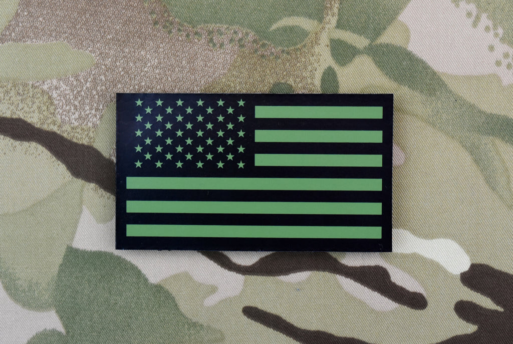 Infrared US Flag Patch - Green & Black