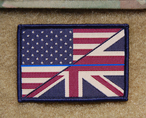 AK47 Playing Cards Woven Morale Patch - Tan On Black