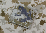 Infrared NWU II Frog Skeleton Morale Patch