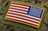 Large Reverse US Flag Patch