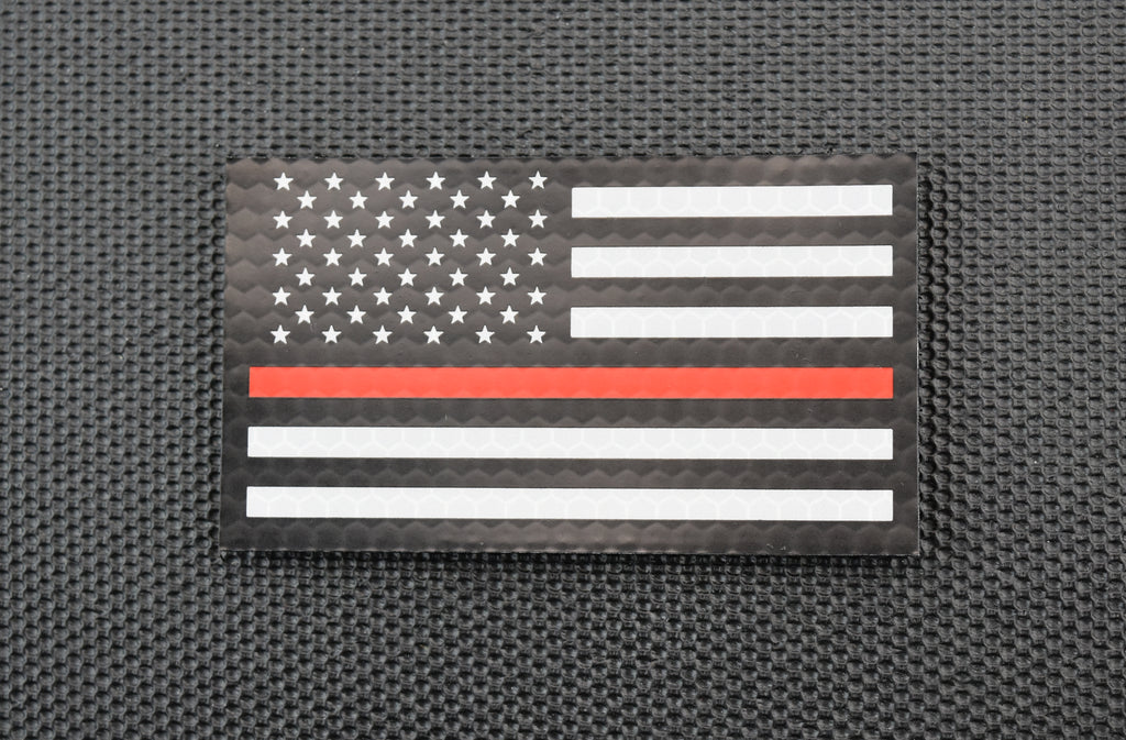 Infrared Thin Red Line US Flag Patch