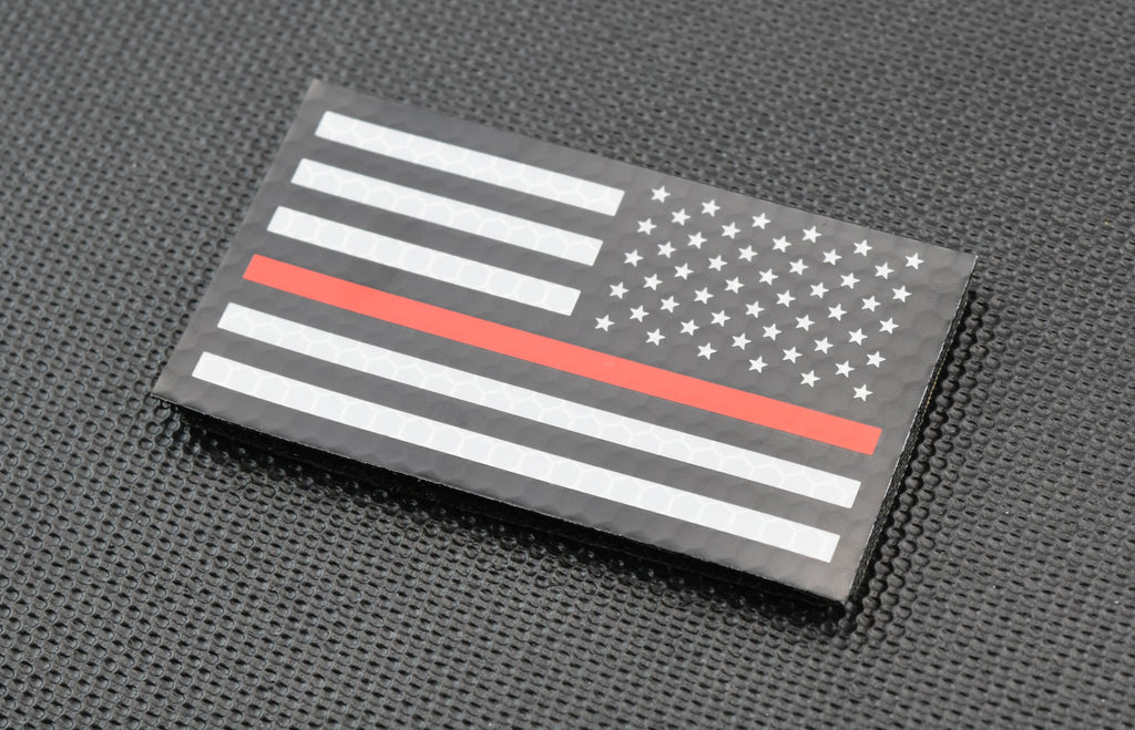 Infrared Thin Red Line US Flag Patch Set