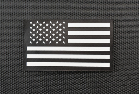 Thin Blue Line PVC US Flag Patch - Gray