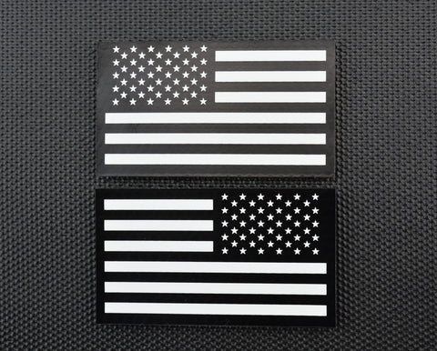 Infrared Thin Blue Line US Flag Patch Set