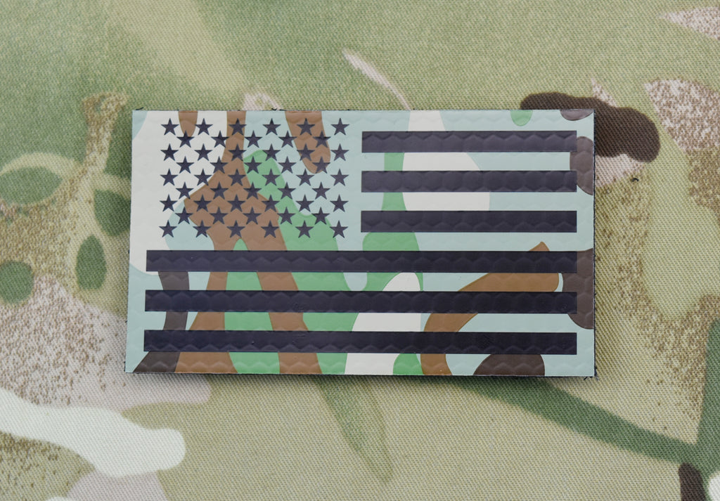 Infrared Printed Multicam IR US Flag Patch