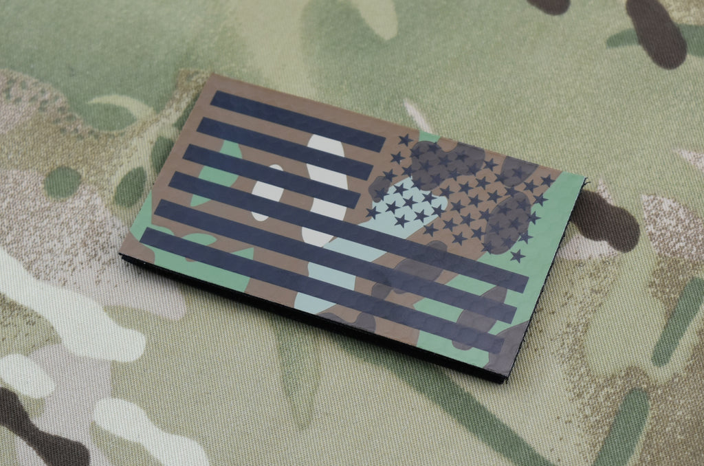 Infrared Printed Multicam IR Reverse US Flag Patch