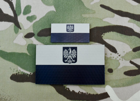 Infrared Norway Flag Patch Set
