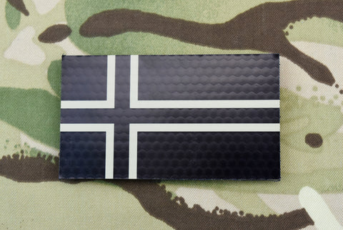 Black & White Infrared Reverse US Flag Patch