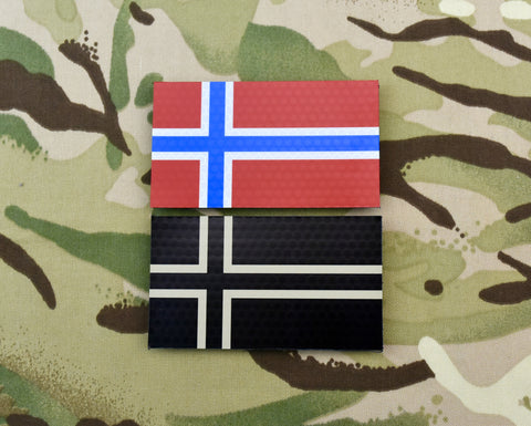 Infrared Poland Flag Patch Set