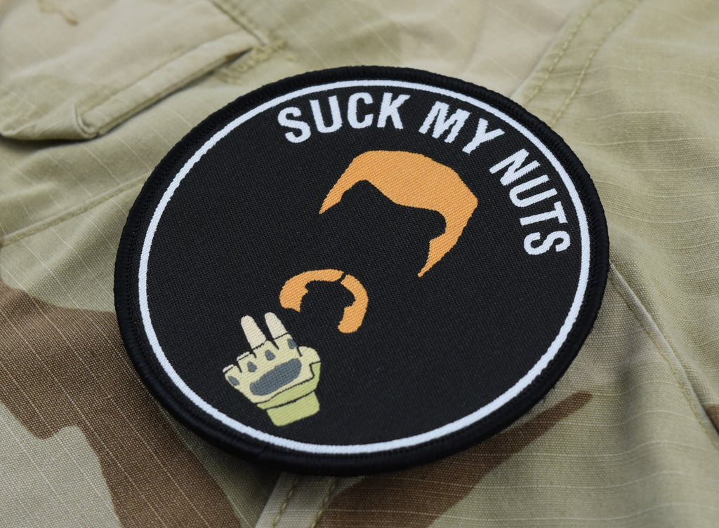 Abraham Ford SUCK MY NUTS Woven Morale Patch