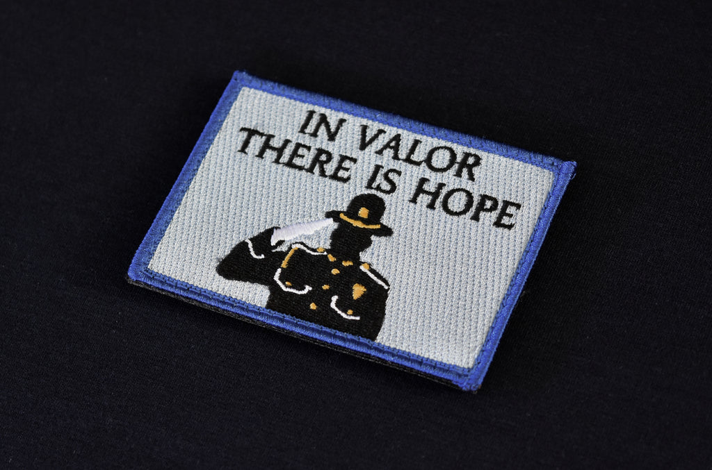 In Valor There Is Hope COPS Fundraiser Patch
