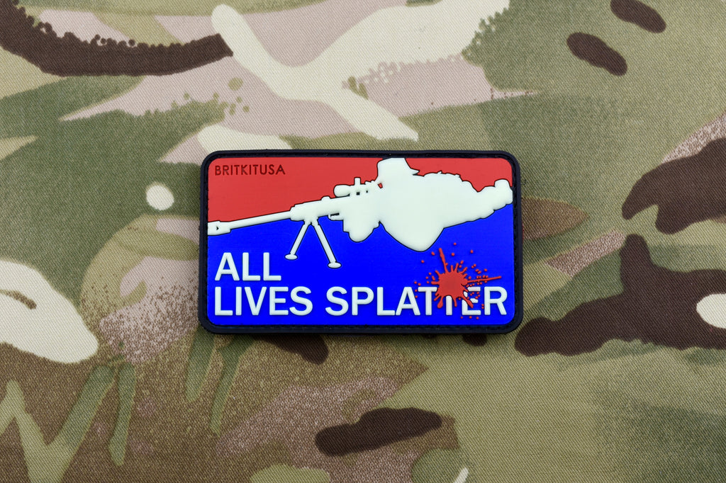 ALL LIVES SPLATTER 3D PVC Morale Patch Set