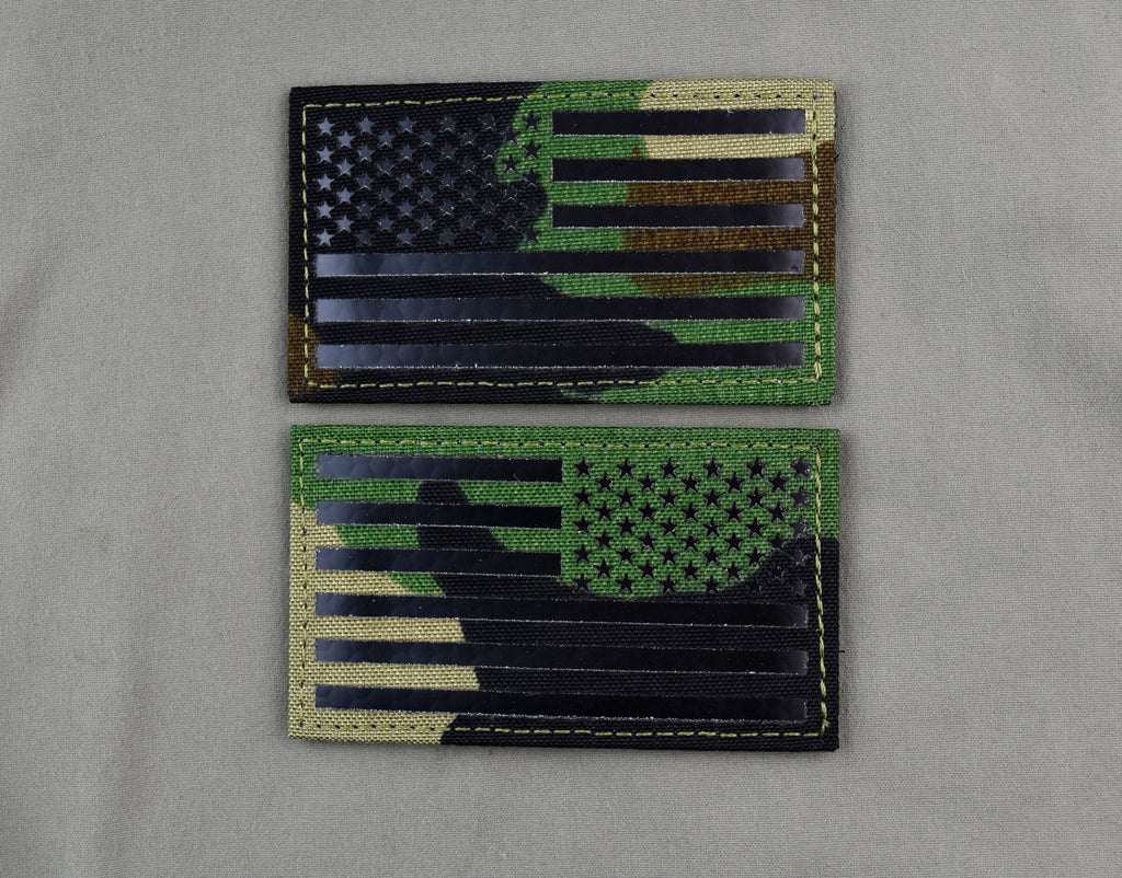 Infrared M81 US Flag Patch Set