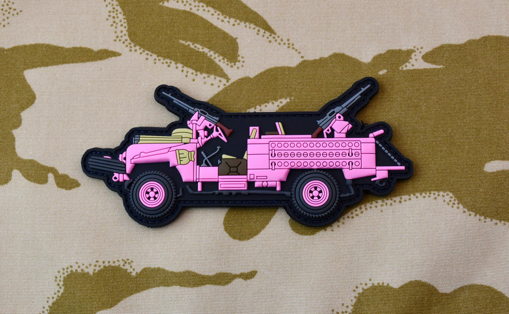 "22 S.A.S. Regiment ""Pinkie"" Land Rover 3D PVC Morale Patch"